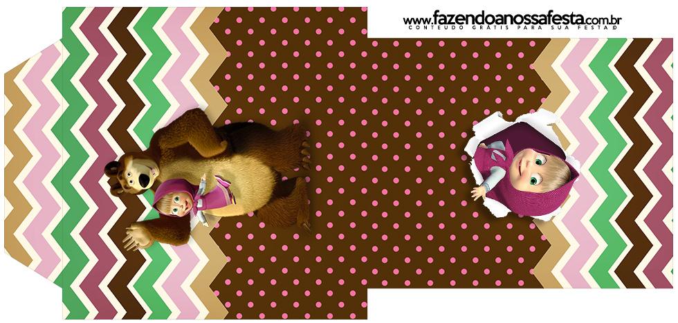 Rótulo Saquinho de Cha Masha e o Urso Kit Festa