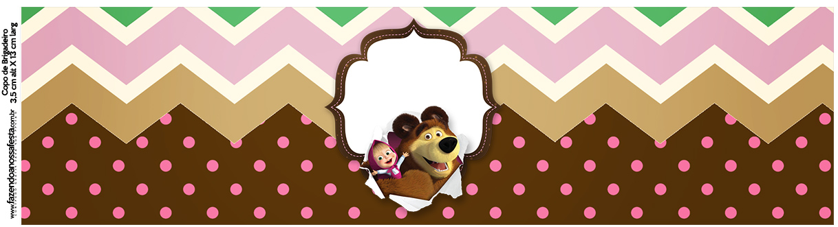 Rotulo Squezze Masha e o Urso Kit