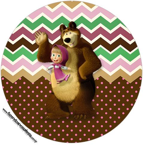 Rotulo Tubete 2 Masha e o Urso Kit