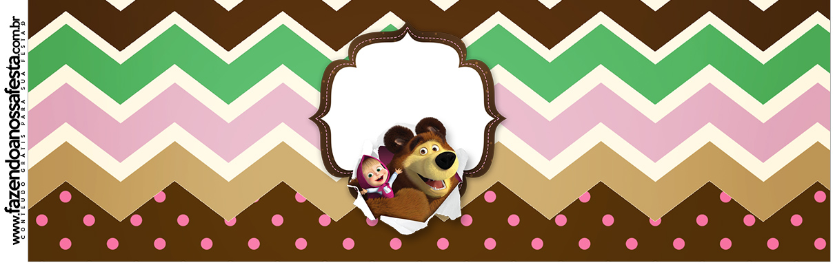 Rotulo para Squezze Masha e o Urso Kit Festa