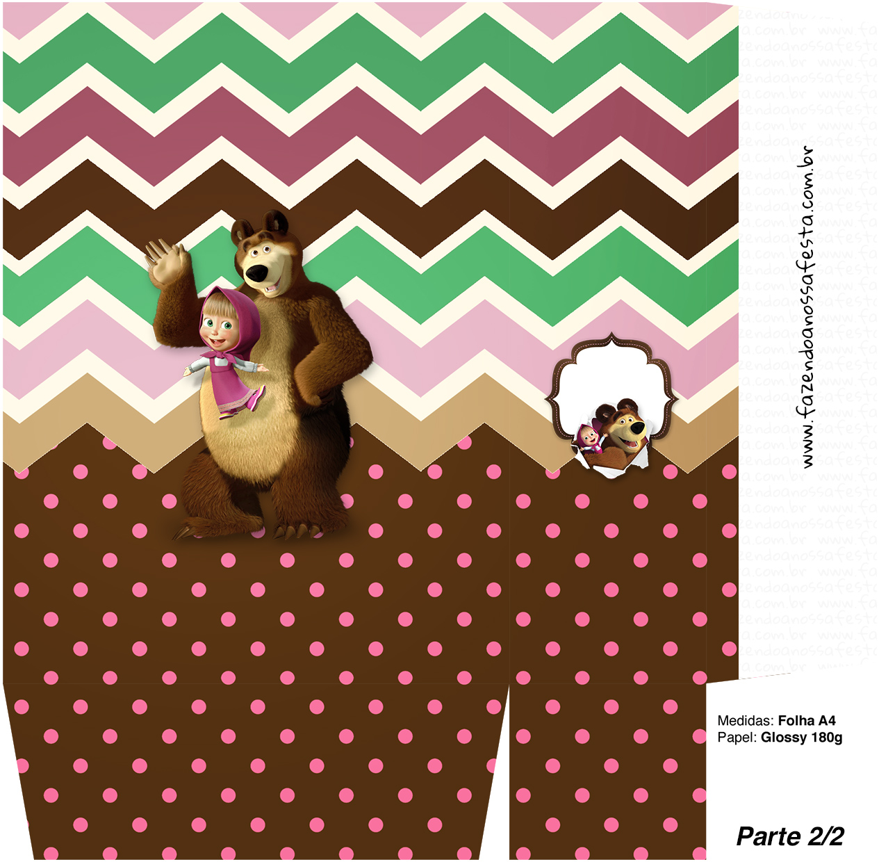 Sacolinha Surpresa 2 2 Masha e o Urso Kit