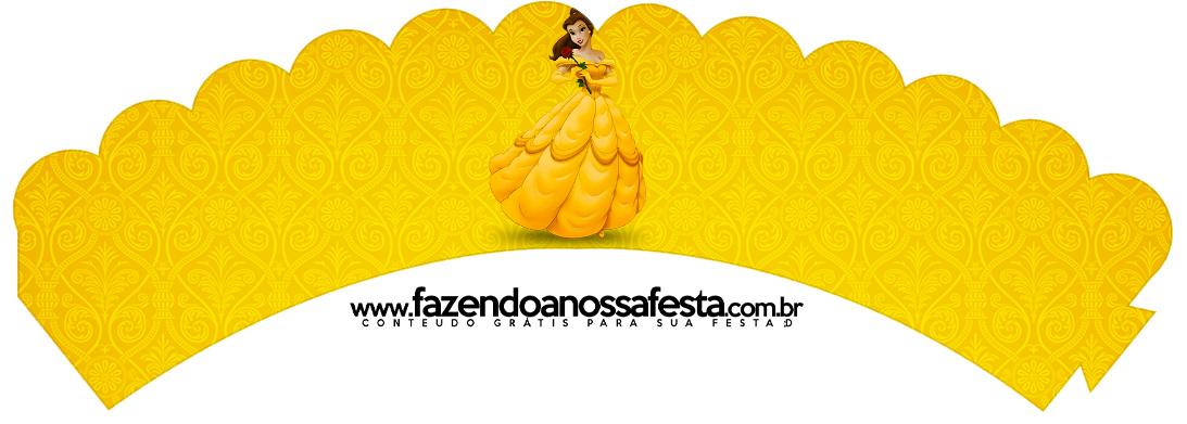 Saias Wrappers para Cupcakes 2 A Bela e a Fera Kit Festa