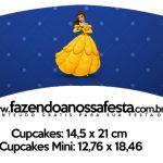 Saias Wrappers para Cupcakes A Bela e a Fera Kit Festa