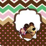 Tag Agradecimento Etiqueta Masha e o Urso Kit Festa