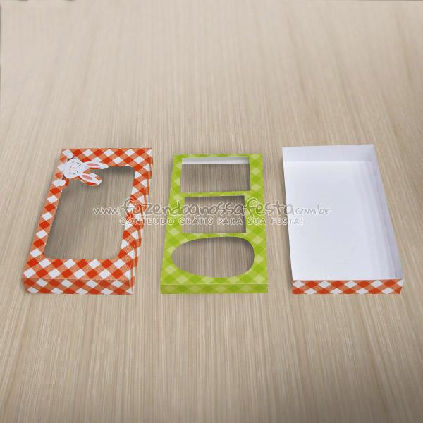 Caixa Kit Confeiteiro para Ovo de Páscoa Fazendo a Nossa Festa