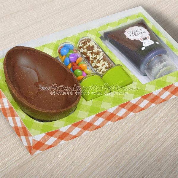 Caixa Kit Confeiteiro para Ovo de Páscoa Fazendo a Nossa Festa 2