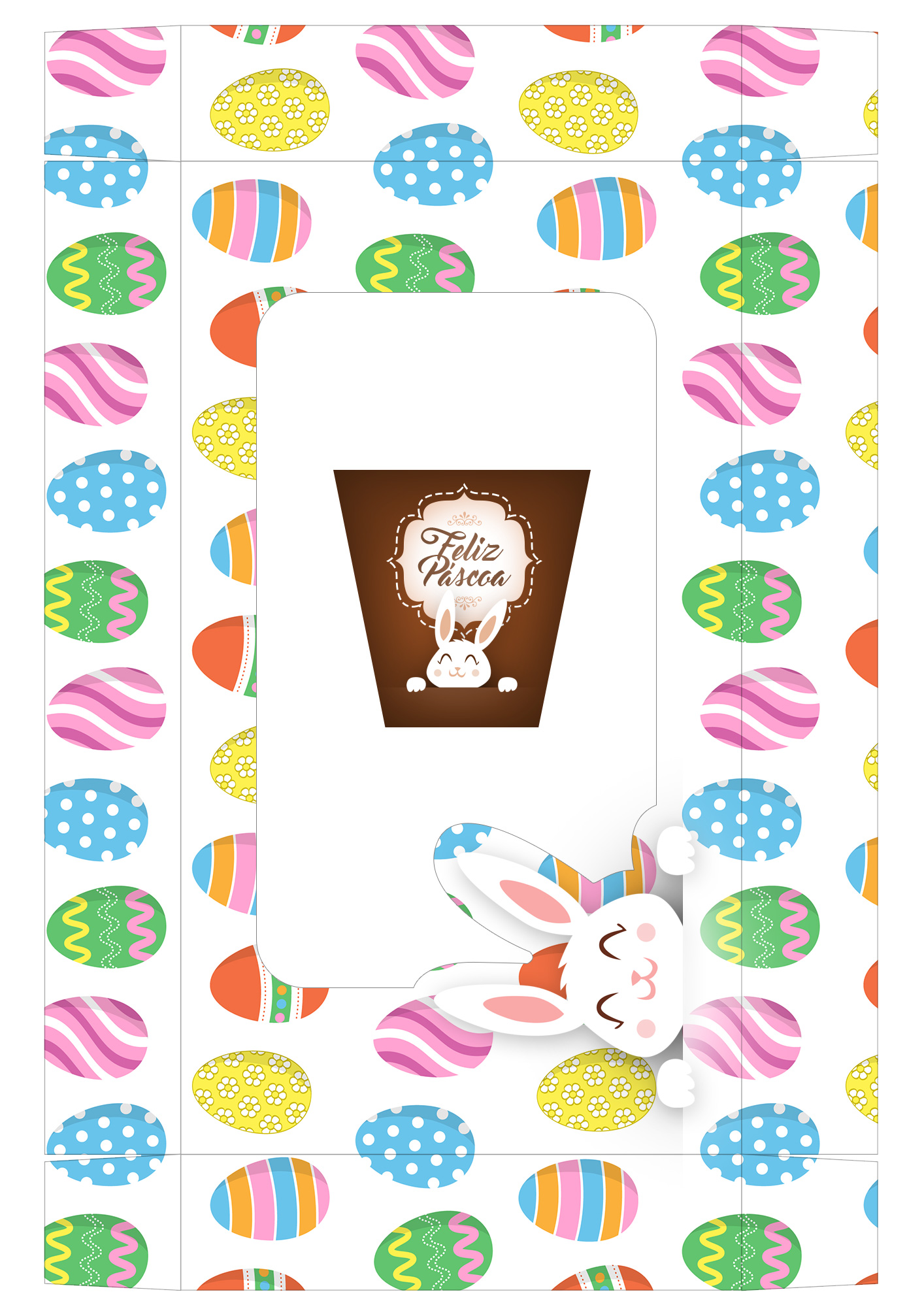 Caixa Kit Mini Confeiteiro para Páscoa 16 - parte de cima