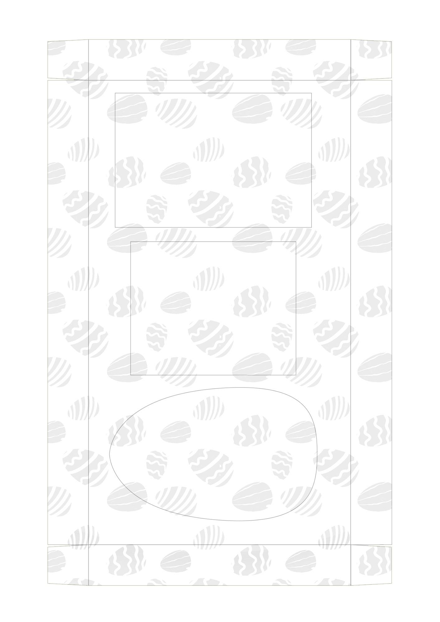 Caixa Kit Mini Confeiteiro para Páscoa - parte de dentro