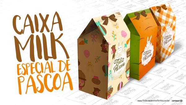 Caixa Milk para Páscoa