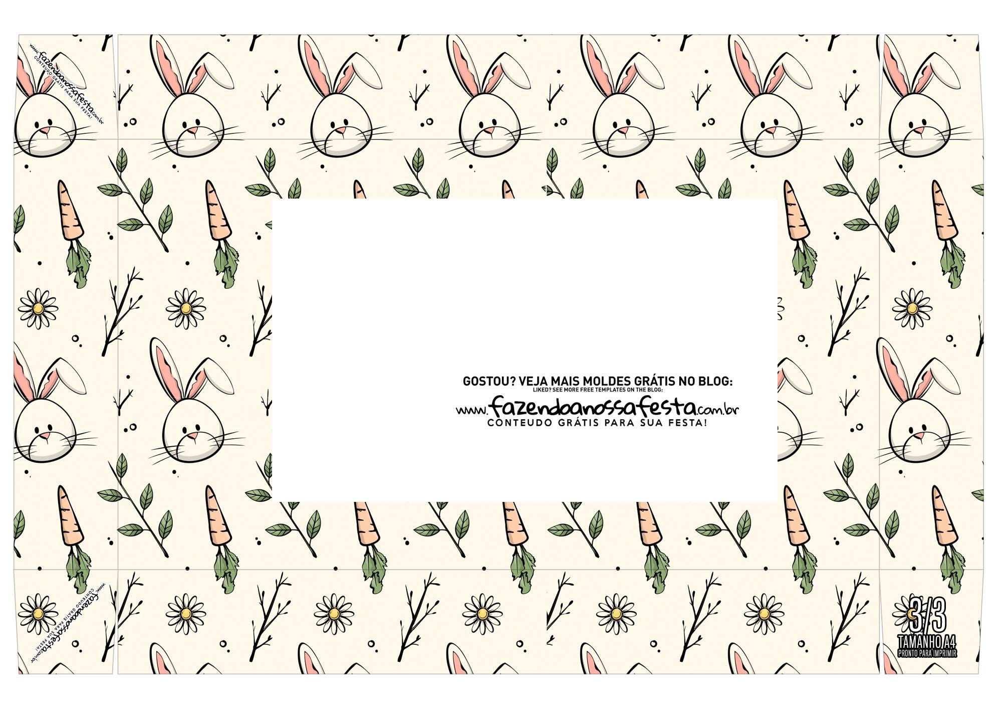 Caixa mini confeiteiro coelho fofo cima