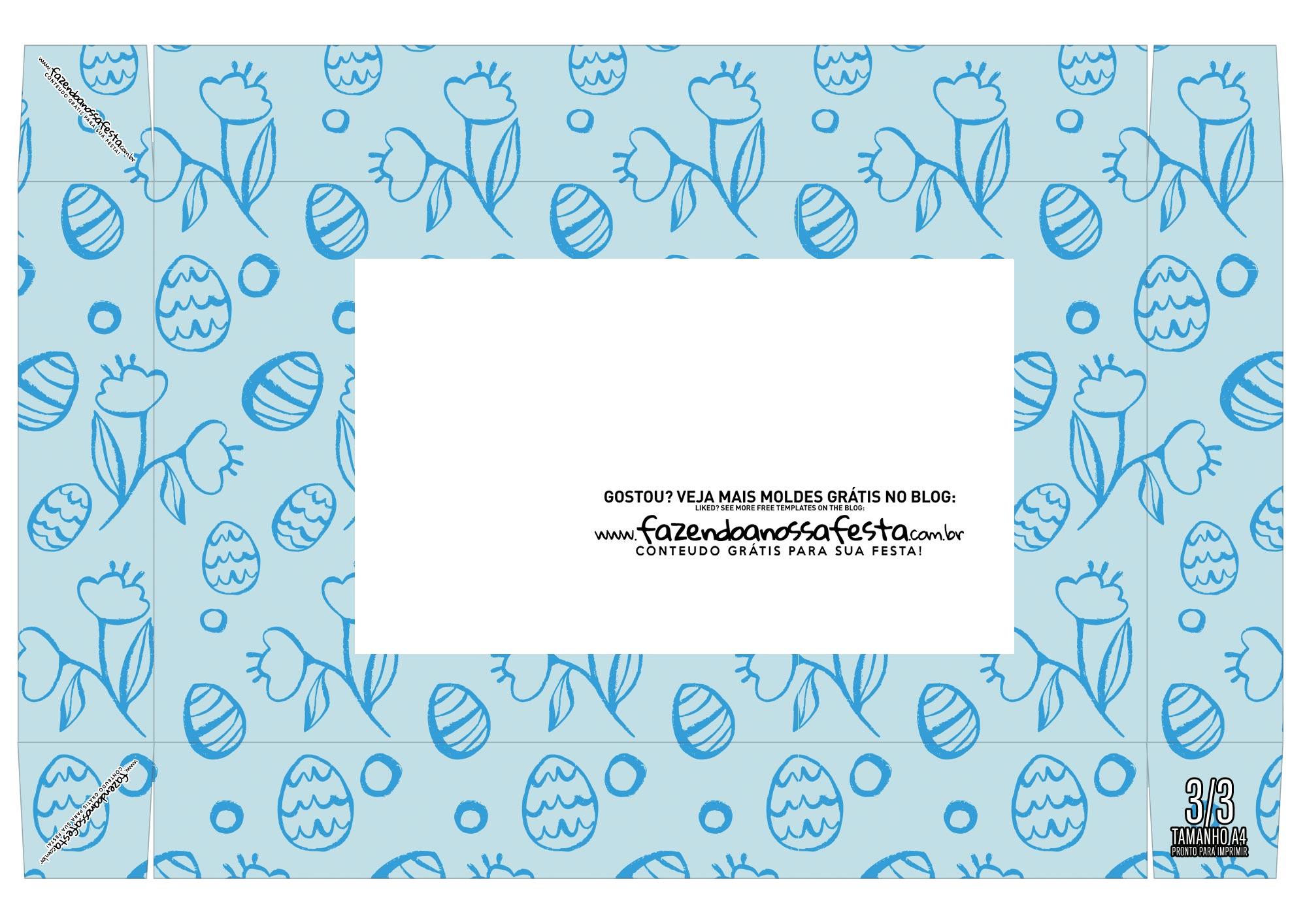 Caixa Mini Confeiteiro ovinhos azuis cima