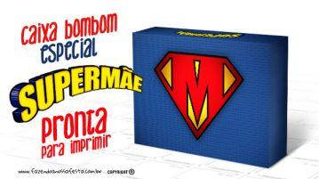 Caixa Super Mãe Modelo