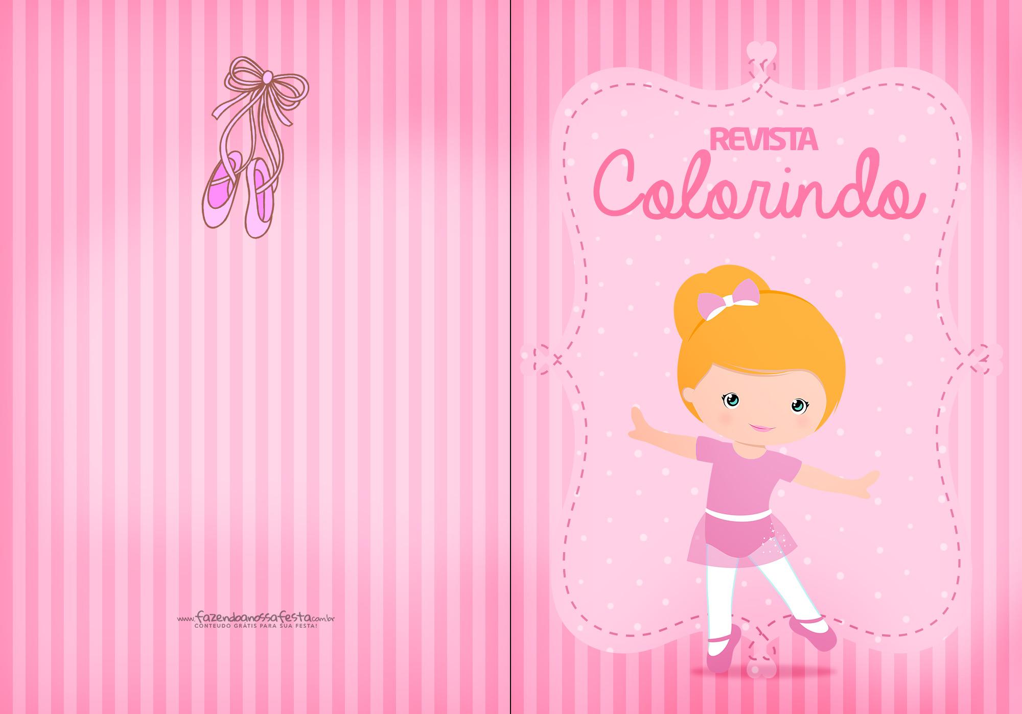 Capa Livrinho de Colorir Bailarina 1