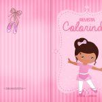 Capa Livrinho de Colorir Bailarina