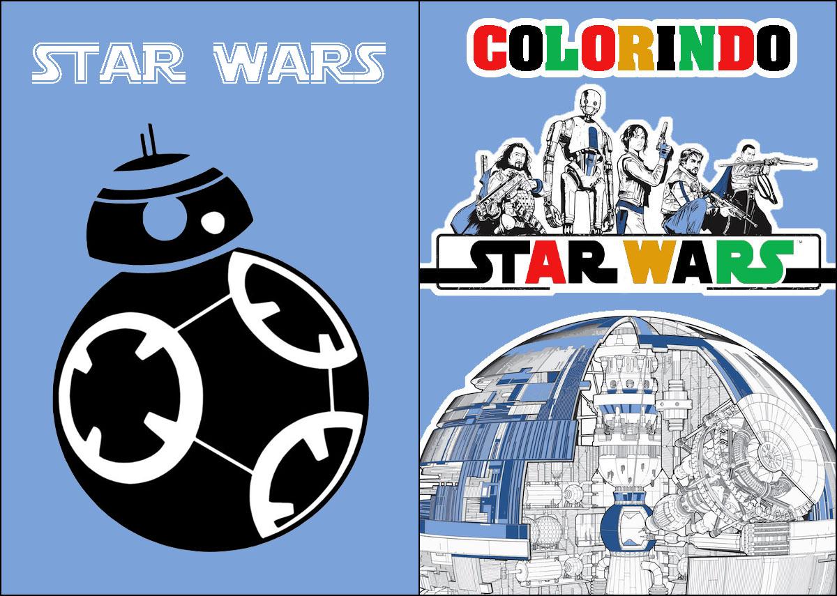 Capa Livrinho para Colorir Star Wars 1