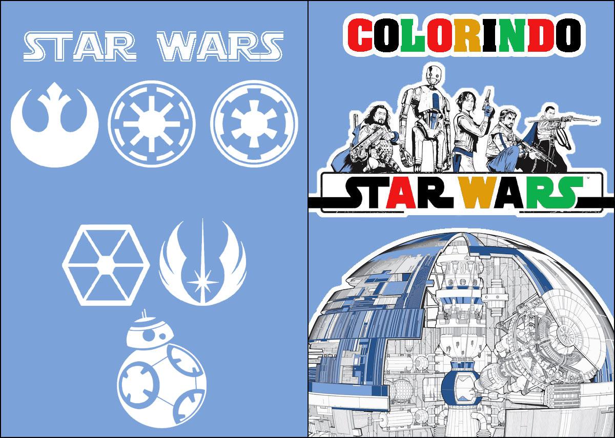 Capa Livrinho para Colorir Star Wars