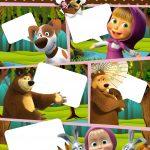 Convite Gibi Festa Masha e o Urso 6