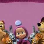 Convite Masha e o Urso 1
