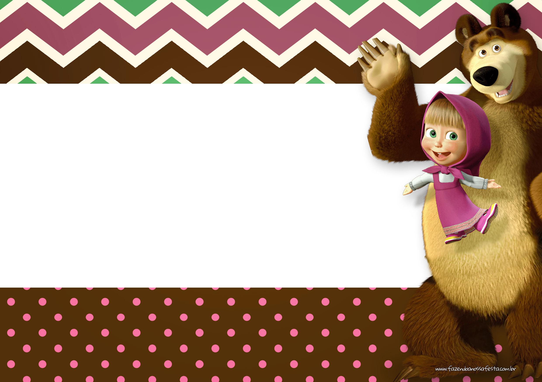 Convite Masha e o Urso 13