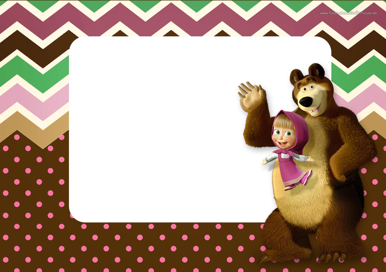 Convite para Festa Masha e o Urso 14