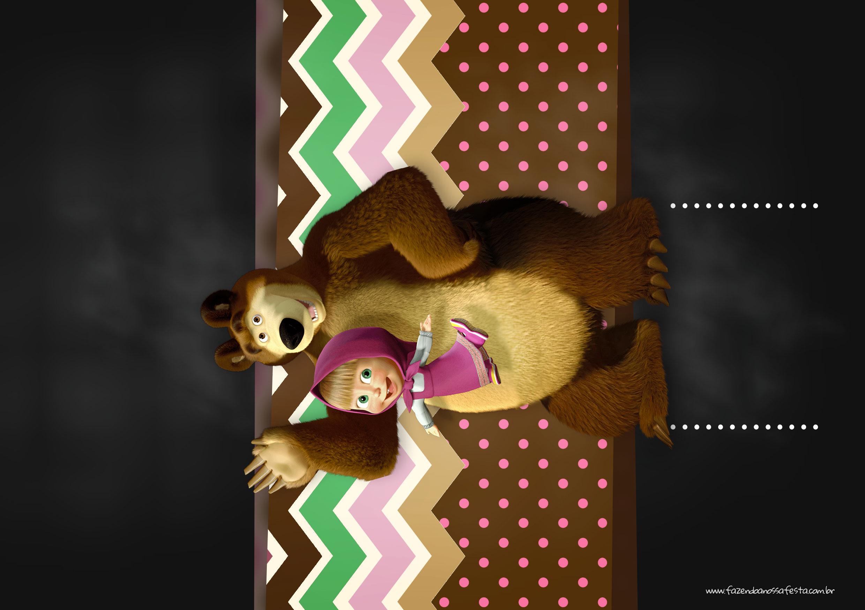 Convite para Festa Masha e o Urso 15
