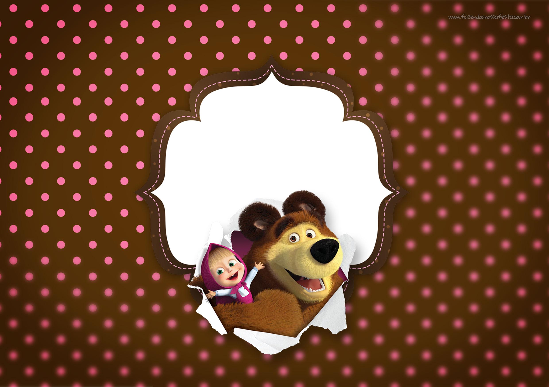Convite para Festa Masha e o Urso 16