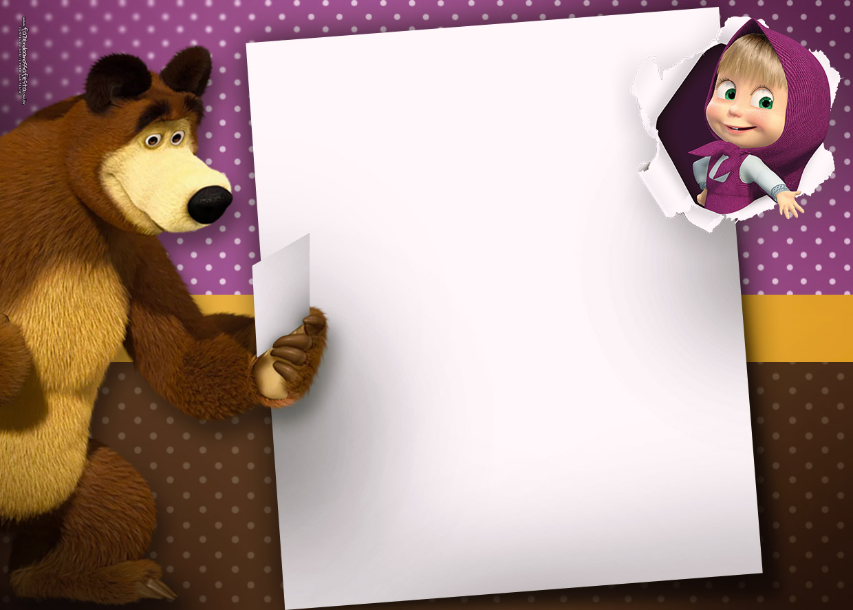 Convite Masha e o Urso 3