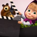 Convite Chalkboard Masha e o Urso 6