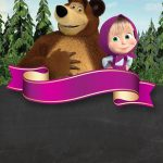 Convite Chalkboard Masha e o Urso 8