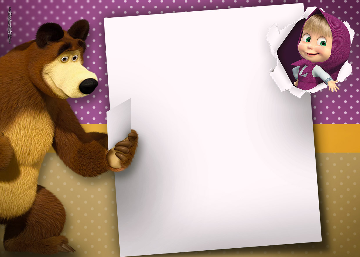 Invitation Masha and The Bear