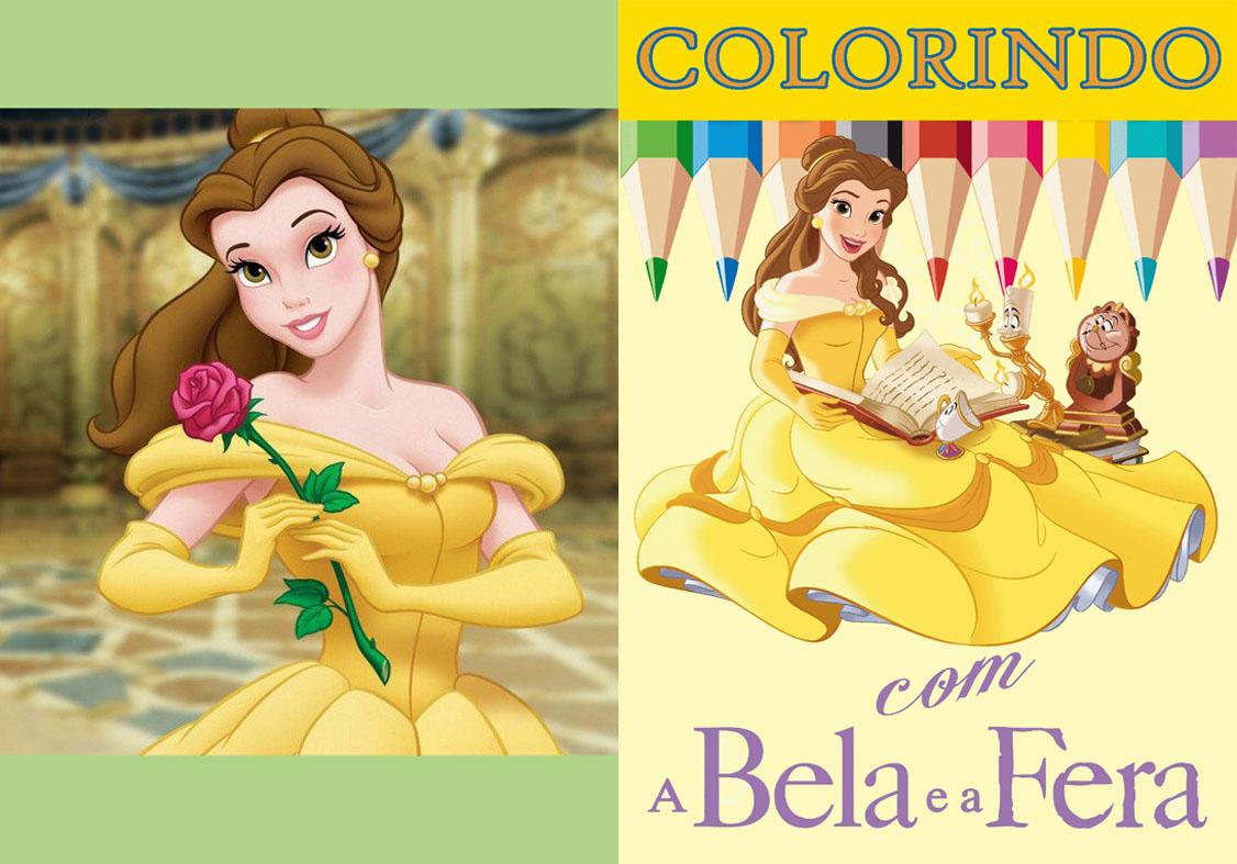 Livrinho de Colorir A Bela e a Fera Capa Colorida