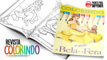 Livrinho de Colorir A Bela e a Fera Modelo