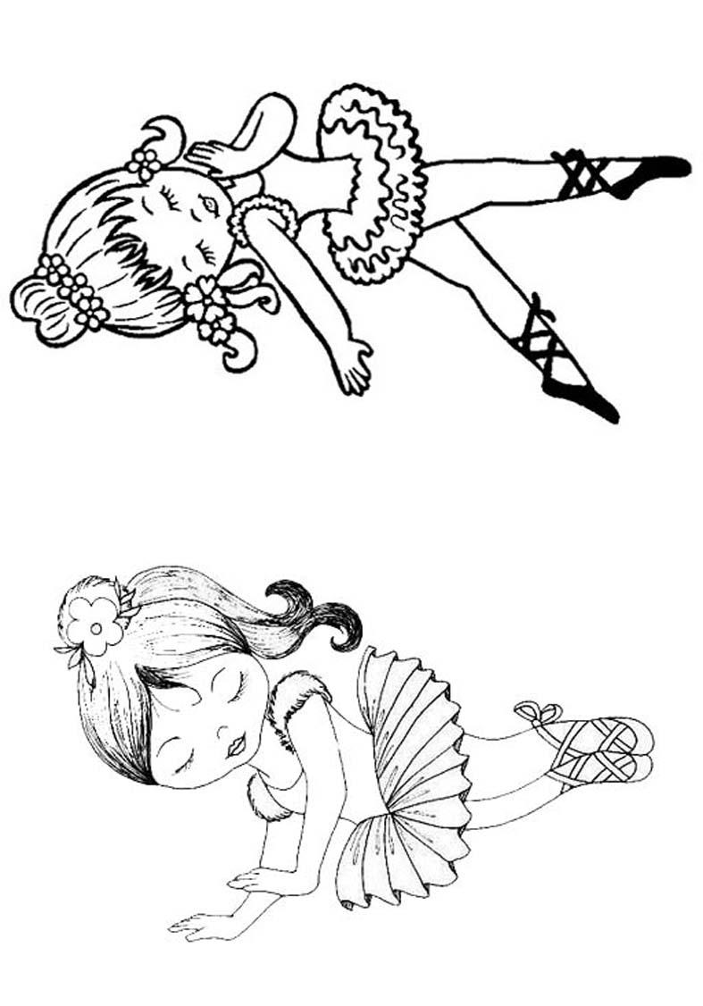 Livrinho para Colorir Bailarina 6