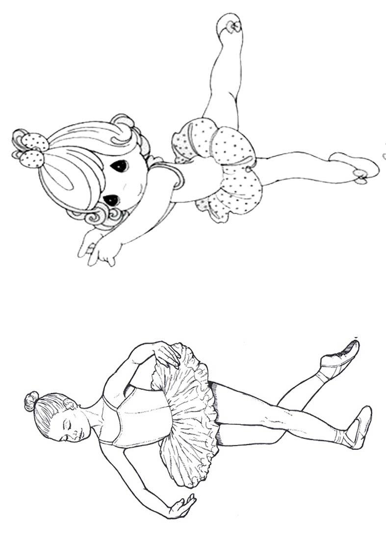 Livrinho para Colorir Bailarina 8