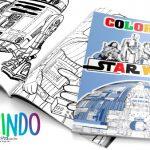 Modelo Livrinho para Colorir Star Wars