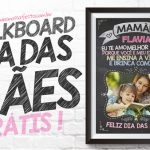 Quadro Chalkboard Dia das Mães