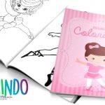 Livrinho para Colorir Bailarina Grátis para Imprimir