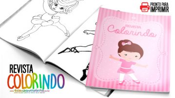 Revista para Colorir Bailarina 1