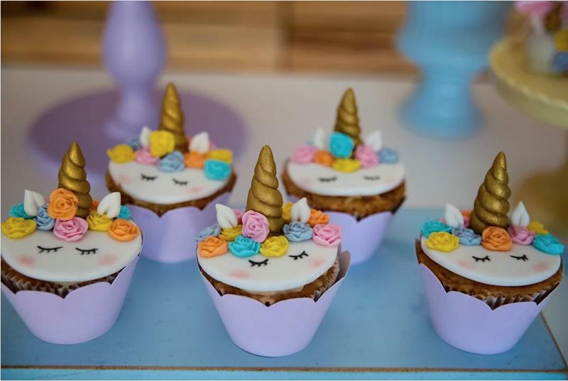 20 Ideias para Festa Unicórnio - Cupcake