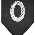 Bandeirinha Chalkboard 0