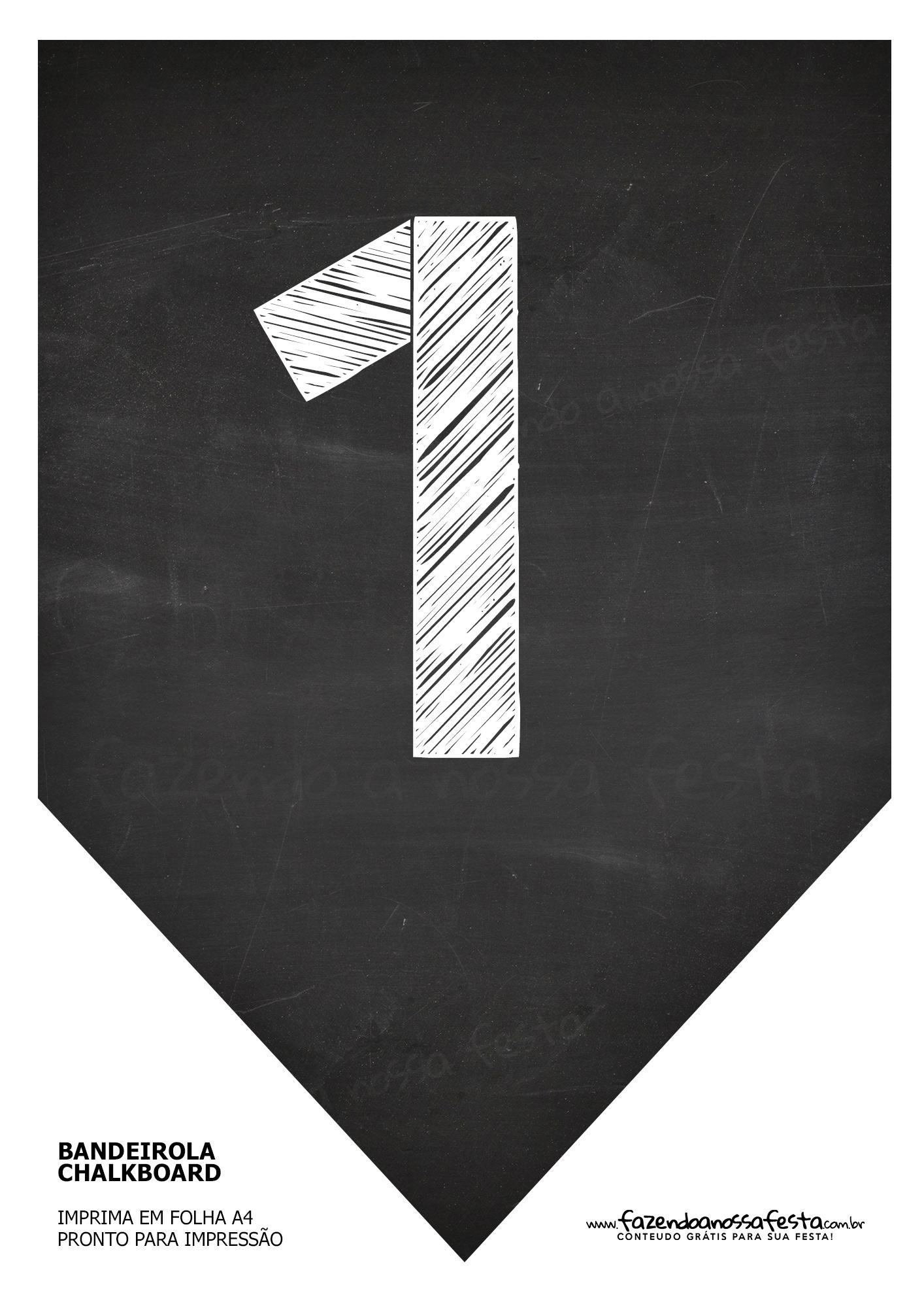 Bandeirinha Chalkboard 1