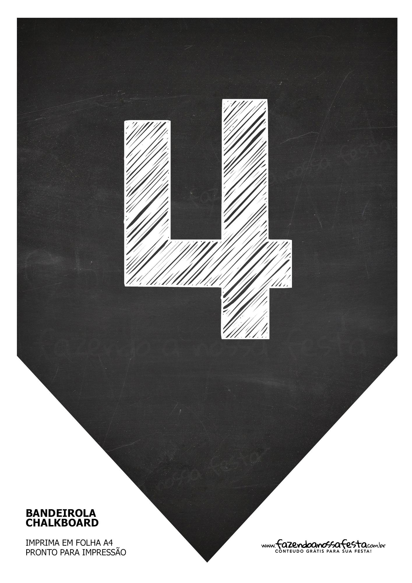 Bandeirinha Chalkboard 4