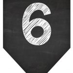 Bandeirinha Chalkboard 6