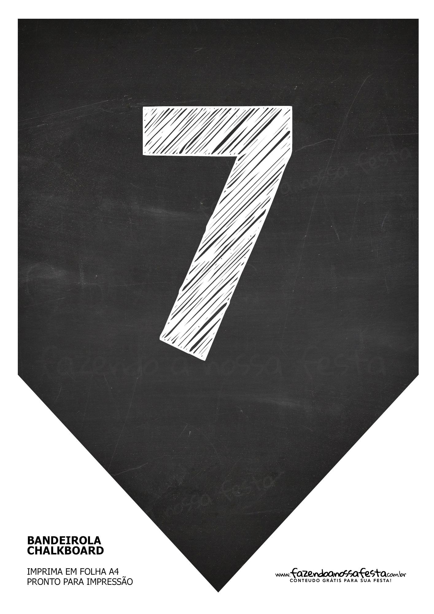 Bandeirinha Chalkboard 7
