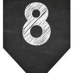 Bandeirinha Chalkboard 8