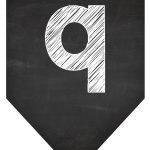 Bandeirinha Chalkboard 9