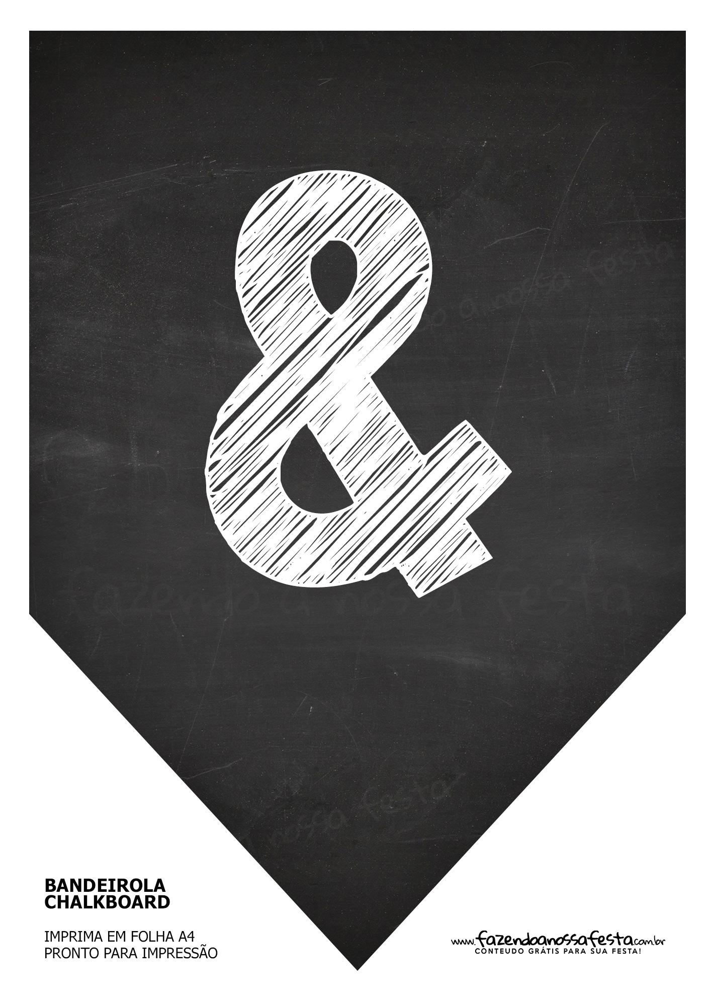 Bandeirinha Chalkboard &