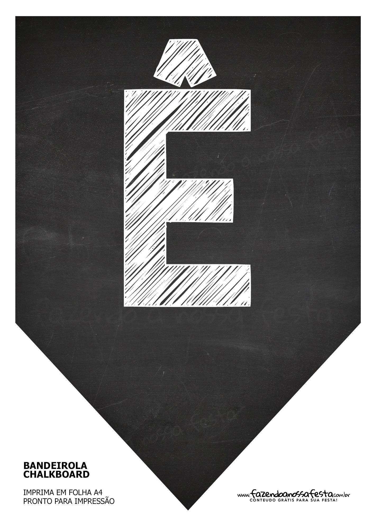 Bandeirinha Chalkboard ê