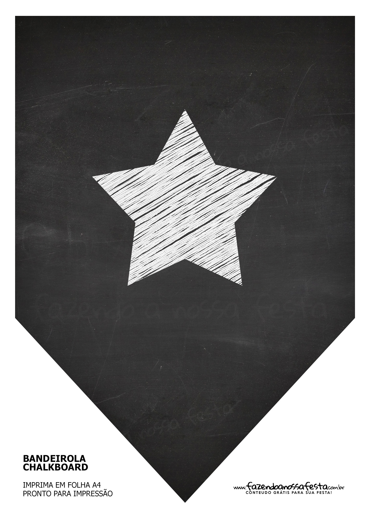 Bandeirinha Chalkboard Estrela