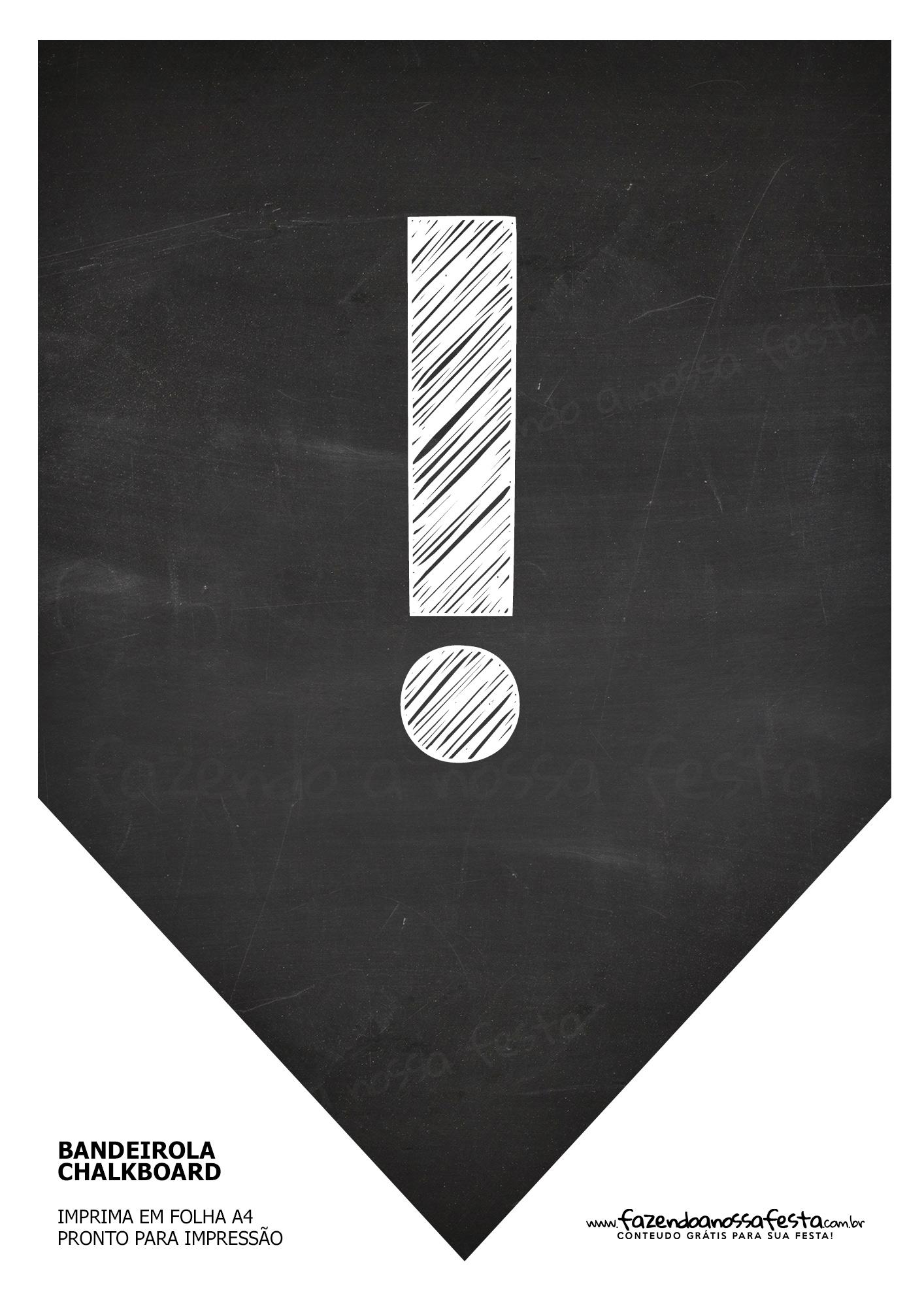Bandeirinha Chalkboard !